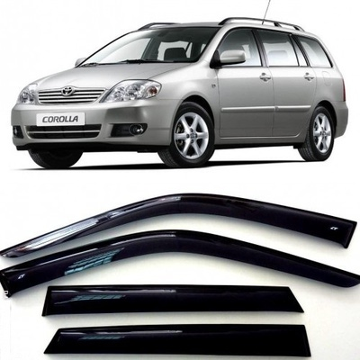 Дефлекторы боковых Окон на Тойота Королла Универсал - Toyota Corolla Wagon 2001-2007