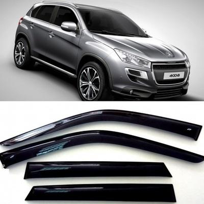 Дефлекторы боковых окон на Пежо 4008 - Peugeot 4008 2012