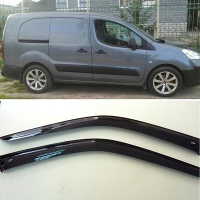 Дефлекторы боковых Окон на Пежо Партнер 3д - Peugeot Partner 3d 2009
