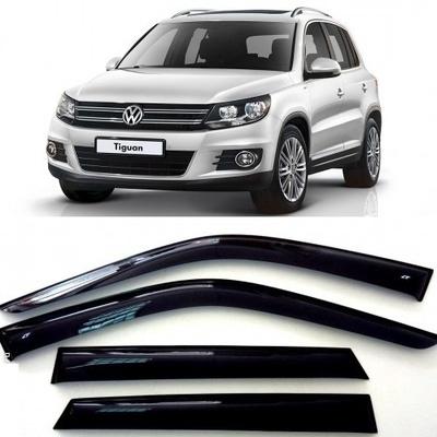 Дефлекторы боковых Окон на Фольксваген Тигуан - Volkswagen Tiguan 2008-2017