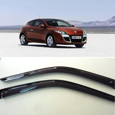 Дефлекторы боковых Окон на Рено Меган 3 Купе - Renault Megane 3 Coupe