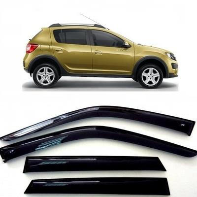 Дефлекторы боковых Окон на Рено Сандеро Степвей -Renault SANDERO Stepway
