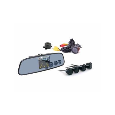 Зеркало заднего вида с TFT 3,5 монитором+камера +4 датчика 20mm TFT738SC4 BLACK