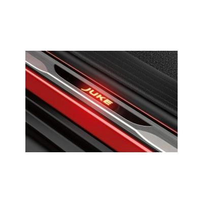Накладки на пороги с Подсветкой Нисан Джук Nissan JUKE (Красные)