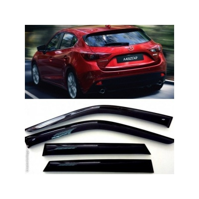 Дефлекторы боковых Окон на Мазда 3 Хэтчбек - Mazda 3 Hb 2014-2015