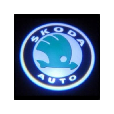 Подсветка для дверей с Логотипом Шкода