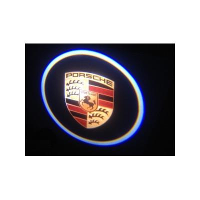 Подсветка для дверей с Логотипом Порше