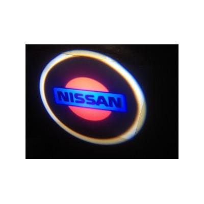 Подсветка для дверей с Логотипом Ниссан
