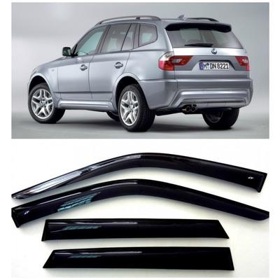 Дефлекторы боковых Окон на БМВ Х3 - BMW X3 (E83) 2003-2010
