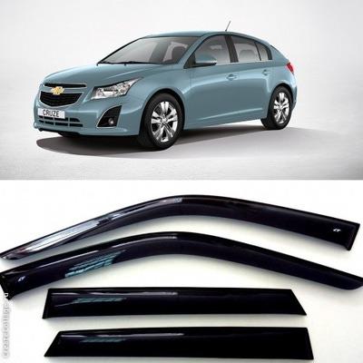 Дефлекторы боковых стекол на Шевроле Круз Хэчбек 5д - Chevrolet Cruze Hatchback 5d 2011