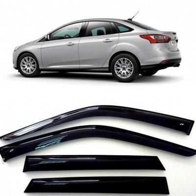 Дефлекторы боковых Окон на Форд Фокус 3 Седан - Ford Focus 3 Sd 2011-2015
