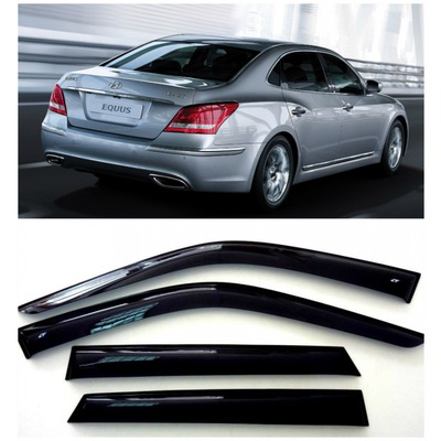 Дефлекторы боковых Окон на Хендай Экус Седан - Hyundai Equus Sd 2009-2015