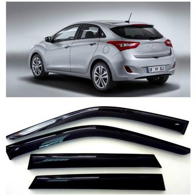 Дефлекторы боковых Окон на Хендай i30 2 Хэтчбек - Hyundai i30 2 Hb 5d 2012-2015