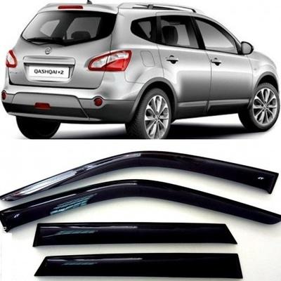 Дефлекторы боковых Окон на Ниссан Кашкай +2 - Nissan Qashqai +2 2008-2014
