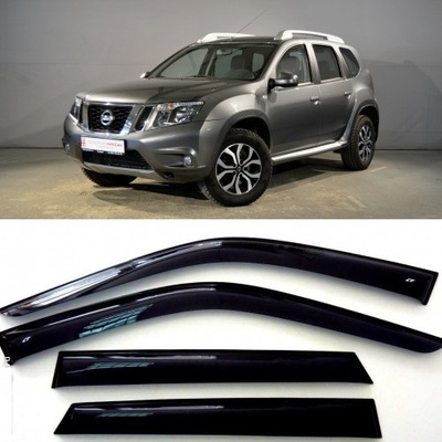 Дефлекторы боковых Окон на Ниссан Террано 3 - Nissan Terrano 3 2014-2015