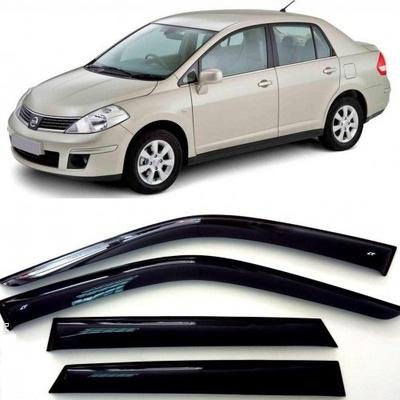Дефлекторы боковых Окон на Ниссан Тиида Седан (C11) - Nissan Tiida Sd (C11) 2004-2014