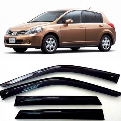 Дефлекторы боковых Окон на Ниссан Тиида Хэтчбек (C11) - Nissan Tiida Hb (C11) 2004-2014