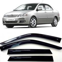 Дефлекторы боковых Окон на Тойота Королла Седан - Toyota Corolla Sd 2001-2007