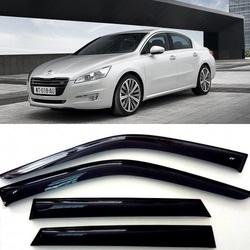 Дефлекторы боковых Окон на Пежо 508 Седан - Peugeot 508 Sd 2010-2015