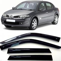 Дефлекторы боковых Окон на Рено Меган 2 Седан - Renault Megane 2 Sd 2002-2008