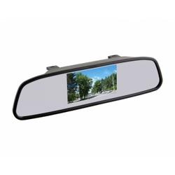 """Зеркало заднего вида с монитором экран TFT LCD, размер 3,5"""",питание 12В, TV система PAL/NTSC"""