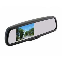 """Зеркало заднего вида с монитором экран TFT LCD, размер 4,3"""",питание 12В, TV система PAL/NTSC"""