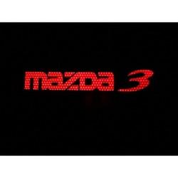 Накладки на пороги с Подсветкой Мазда 3-MAZDA 3 (Красные)
