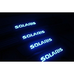 Накладка на пороги Хендай Солярис - HYUNDAI SOLARIS