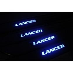 Накладка на пороги Мицубиси Лансер (Mitsubishi Lancer)
