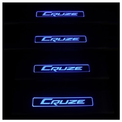 Накладки на пороги с Подсветкой Шевроле КРУЗ Chevrolet Cruze