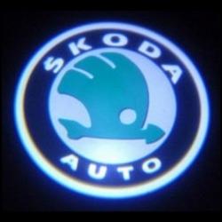 лазерная подсветка с лого skoda беспроводная