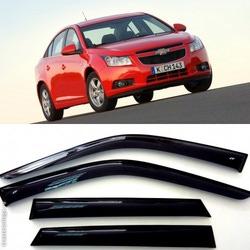 Дефлекторы боковых Окон на Шевроле Круз Седан - Chevrolet Cruze Sedan 2009