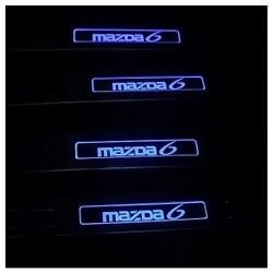 Накладки на пороги с Подсветкой Мазда 6-MAZDA 6