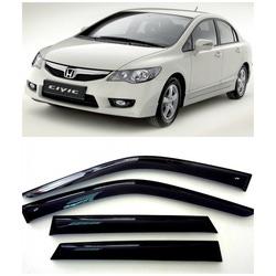Дефлекторы боковых Окон на Хонда Цивик 8 Седан - Honda Civic 8 Sd 2006-2011
