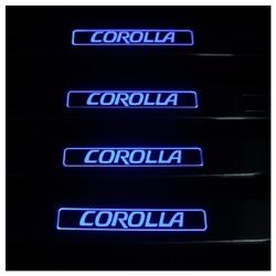 Накладка на Пороги с Подсветкой Тойота Королла - Toyota Corolla