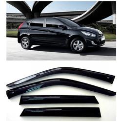 Дефлекторы боковых Окон на Хендай Солярис Хэтчбек - Hyundai Solaris Hb 2011-2015