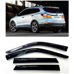Дефлекторы боковых Окон на Хендай Гранд Санта Фе - Hyundai Grand Santa Fe 2013-2015