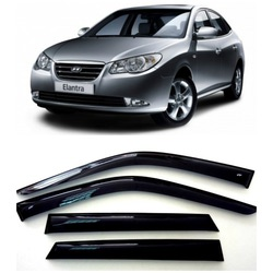 Дефлекторы боковых Окон на Хендай Элантра 4 Седан - Hyundai Elantra 4 Sd 2007-2010