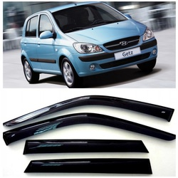 Дефлекторы боковых Окон на Хендай Гетц Хэтчбек - Hyundai Getz Hb 5d 2002-2011