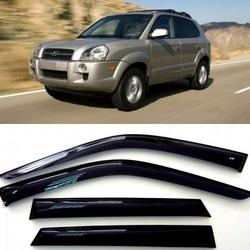 Дефлекторы боковых Окон на Хендай Туссан - Hyundai Tucson 2004-2010