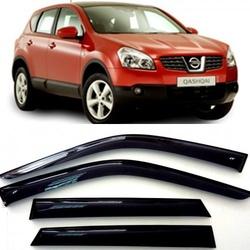 Дефлекторы боковых Окон на Ниссан Кашкай (J10) - Nissan Qashqai (J10) 2006-2014